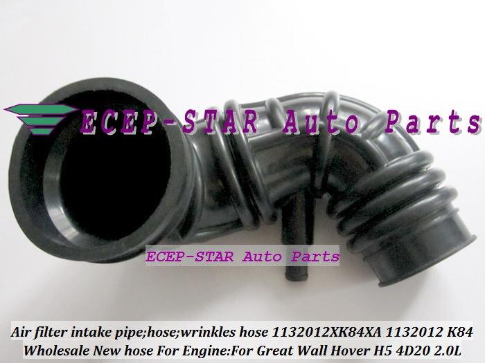 Livraison gratuite filtre à Air tuyau d'admission rides tuyau 1132012XK84XA 1132012-K84 1132012 K84 pour grande paroi GW Hover H5 4D20 2.0L 2.0 T