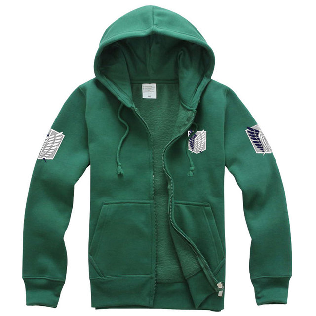 HOT SALE Attack On Titan Survey Corps Freedom Wings Logo Hoodies Unisex Long Sleeve Hoody New Fashion 2016