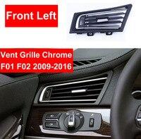 ABS Auto Vorne Links Heizung Wind Klimaanlage Vent Grille Steckdose Panel Chrom Platte Ersetzen Für BMW 7 serie F01 f02 730 735