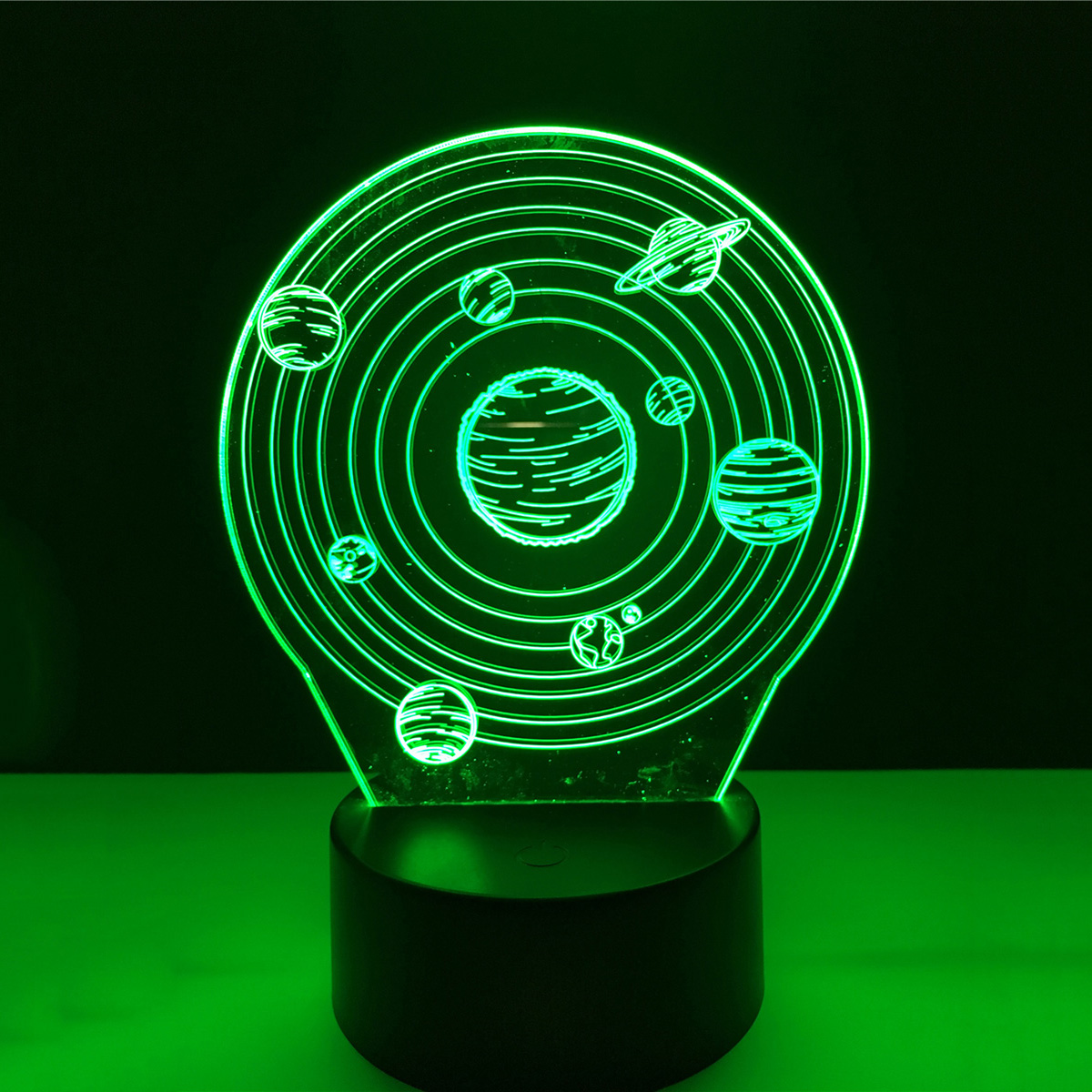 3D Solar system Acrylic LED Lamp 3D Baby Night Light Sleeping Lighting For Children Night Light Xmas New Years
