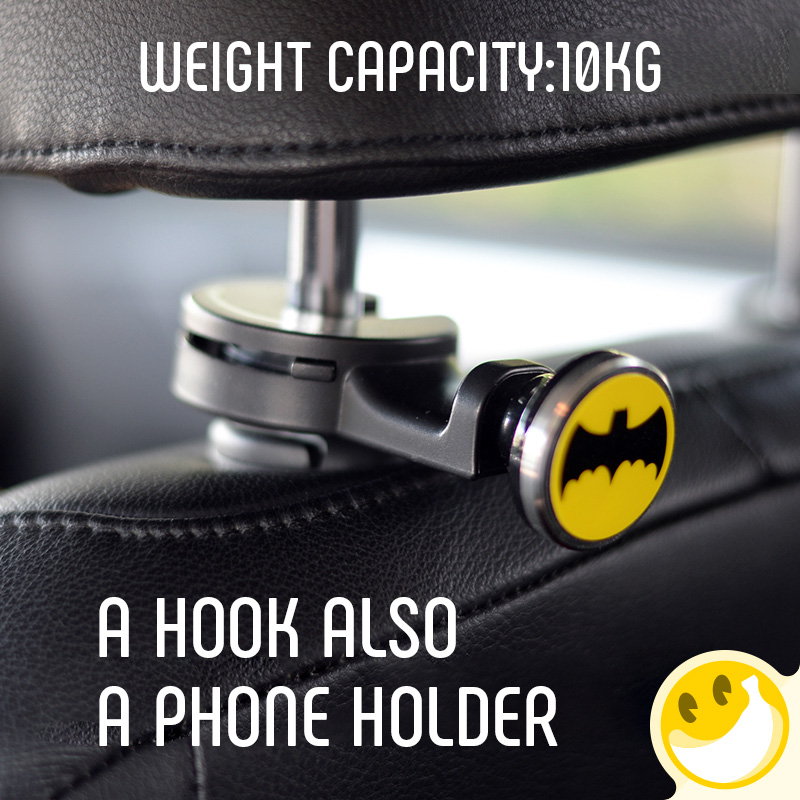 Multi-function Auto Car Back Seat Headrest Hanger Holder Hooks Clips for Bag Purse Cloth Grocery Car phone holder Automobile Int