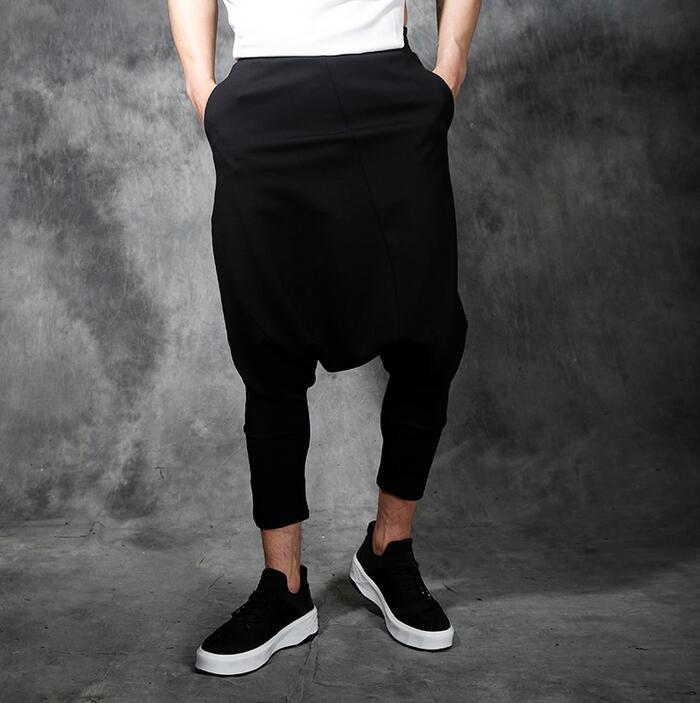 Medio Hombres Casuales Nivel Negro Harem Personalizado Tobillo Verano Sueltos Del Longitud Pantalones Hombre De Bajo 2019 La rvFSnrx