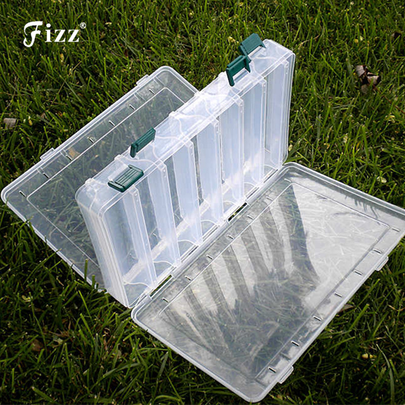 Double Sided 14 Compartments Fishing Tackle Tools Box Lure Fishhooks Float Sinker Line Fishing Accessories Box 270x180x47mm
