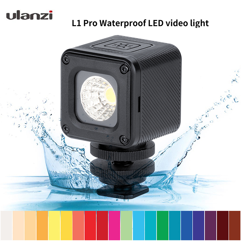 Ulanzi L1 Pro LED Video Light Waterproof Dimmable Versatile Photographic Lighting for DJI Drones Osmo Pocket Gopro 7/6/5