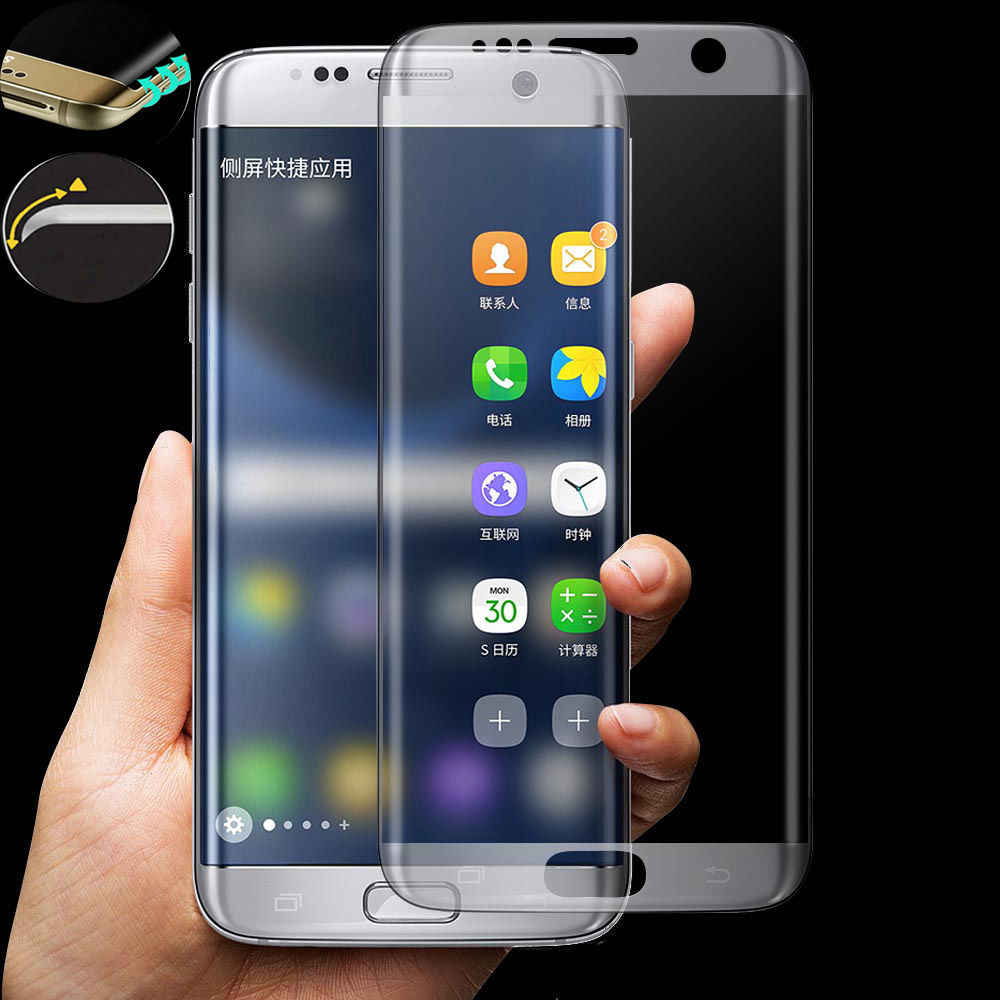 الزجاج المقسى لسامسونج غالاكسي S6 S7 حافة S8 S9 S10 SE زائد ثلاثية الأبعاد التغطية الكاملة واقي للشاشة فليم غطاء لسامسونج نوت 8 9