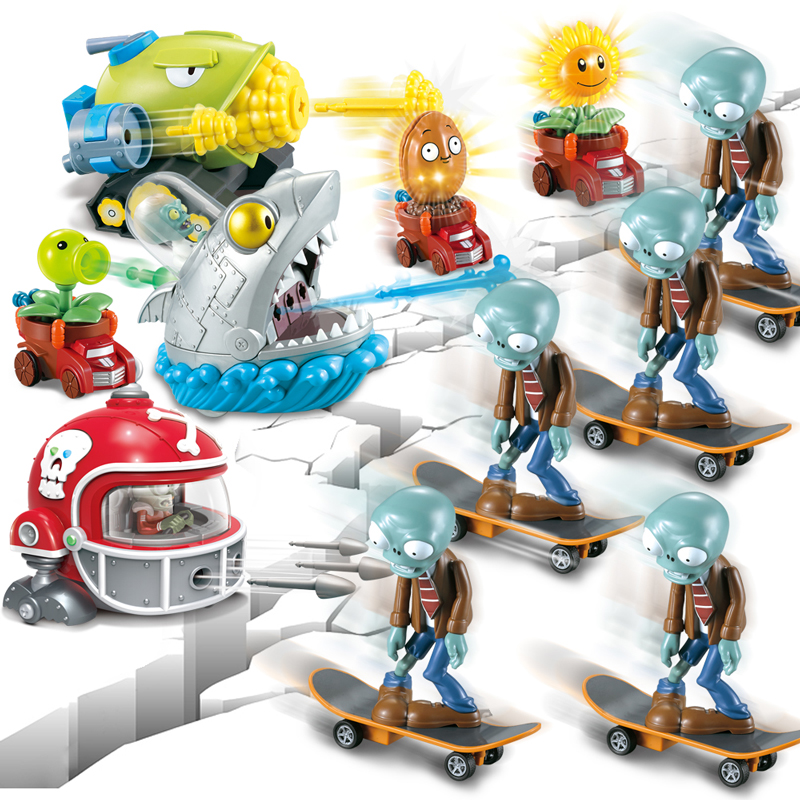 Kids Toys for Children Plants Vs Zombies Novelty Luminous Toys Funny Launch Model Toy Birthday New Year Christmas Gift in Action Toy Figures from Toys Hobbies