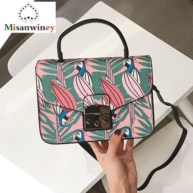 dd9992157f2 Newest Famous Italy Brand Women Flap Bag Luxury Lolita Style Graffiti Print  Painted Shoulder Bag Designer Lady Messegner Bag Sac