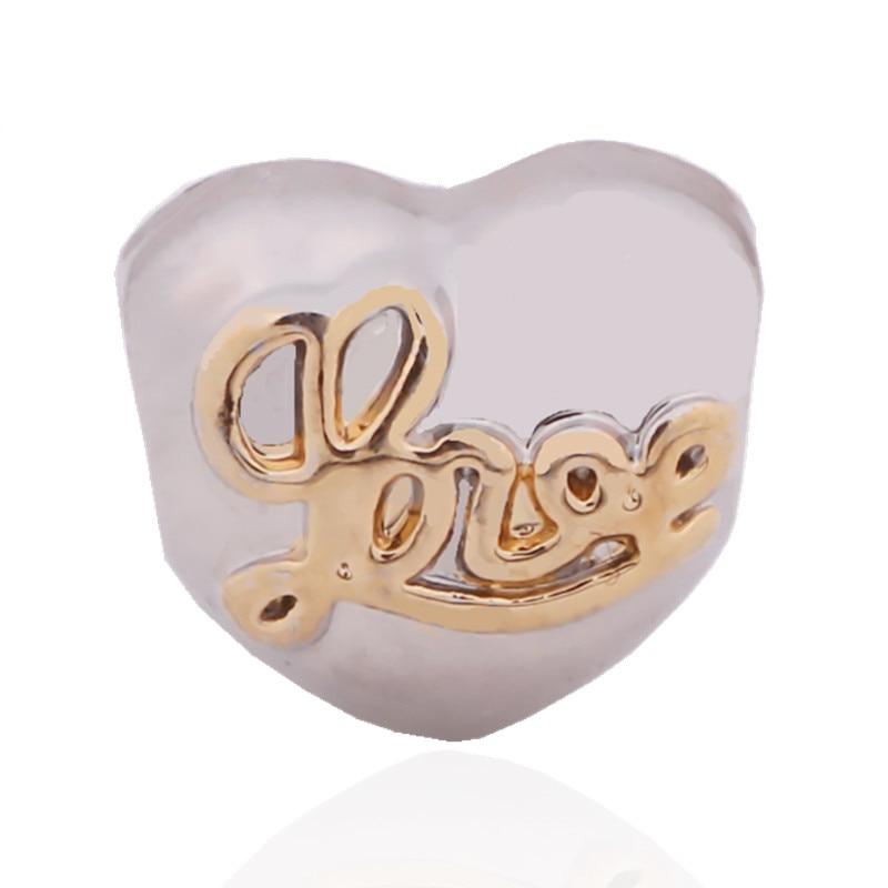 79316f2f6baf 2016 series amor usted corazón Día de San Valentín Europea chapado  veneciana de plata colgante encanto perlas DIY fit Pandora pulsera collar