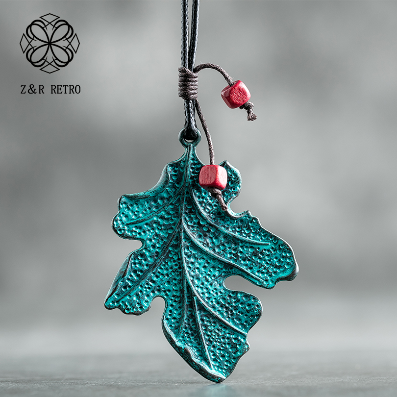 Wood Beads Statement Necklaces Pendants Leaf Pendant For Women Choker Necklace Female Fashion Decoration Handmade New Gift