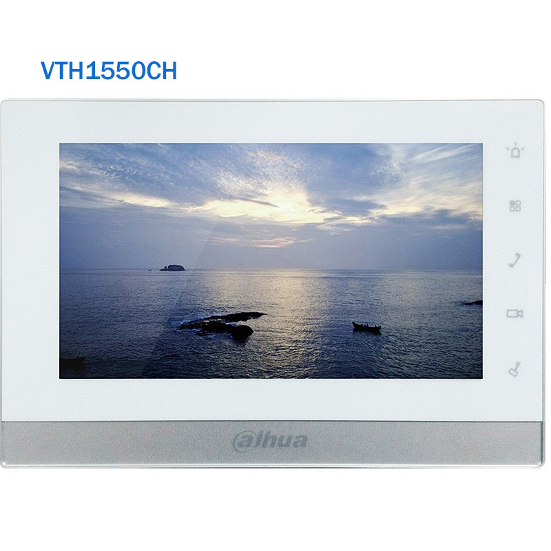 Dahua VTH1550CH Indoor Monitor 7 inch Touch Screen Color IP Video Intercom 800X480 Resolution