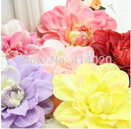 100Pcs /lot 12CM Diameter Multi Color Daisy Flower Head Fabric Wedding Decoration Home Decor Centerpiece Artical Flowers