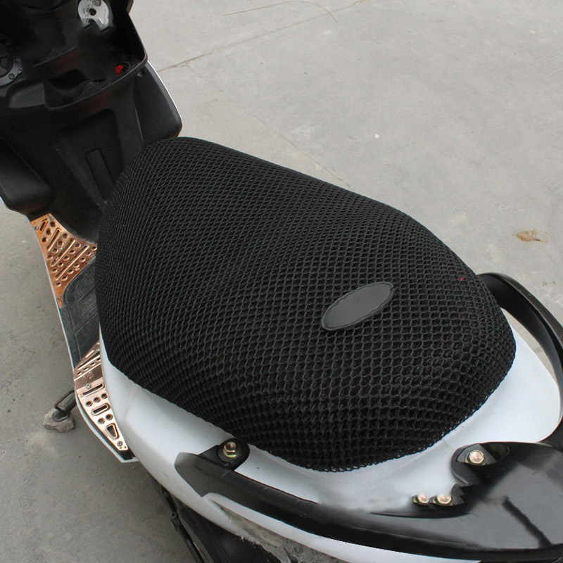 New Breathable Summer Cool 3D Mesh Motorcycle Moped Motorbike Scooter Seat Covers Cushion Anti-Slip Waterproof XL