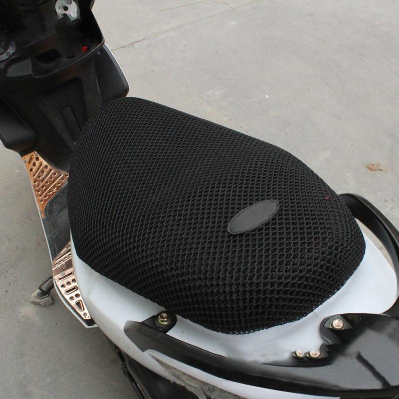 Neue Atmungsaktive Sommer Coole 3D Mesh Motorrad Moped Motorrad Roller Sitzbezüge Kissen Anti-Slip Wasserdichte XL