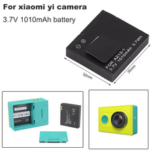 цена на 3.7V 1010mAh Xiao mi yi xiaoyi battery AZ13-1 Li-ion battery For xiaomi yi xiaoyi bateria Action camera accessories