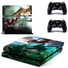 For Monster Hunter World PS4 Skin Sticker Decal For PlayStation 4 Console and Controllers For Dualshock 4 PS4 Skin Sticker Vinyl