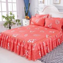 цены на Home Textile Bed Skirt Floral Fitted Sheet Cover Graceful Bedspread Lace Bed Linen Bedroom Mattress Cover Skirt cubrecama 3pcs  в интернет-магазинах