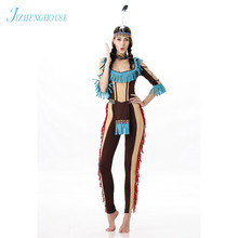 JIZHENGHOUSE Indian Costume Womens Adult Fancy Costumes Hall