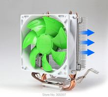 4 Pin Desktop Computer PC 2 heatpipe Universal CPU Cooler computer CPU fan lga755/LGA115*/AM2/AM3
