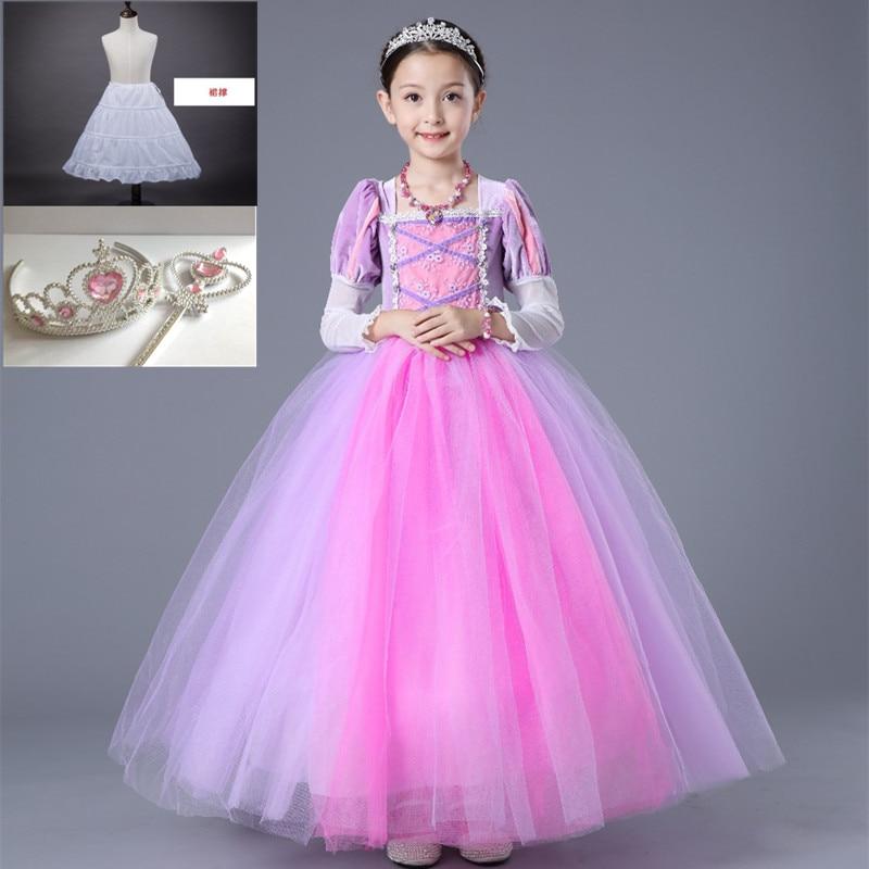 Halloween Princess Ball Gown Dresses for Kids
