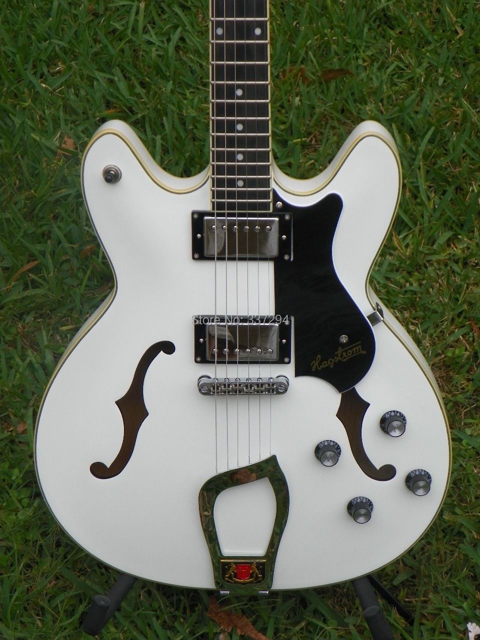 top quality hagstrom viking semi hollow body electric guitar white or hagstrom swede electric. Black Bedroom Furniture Sets. Home Design Ideas