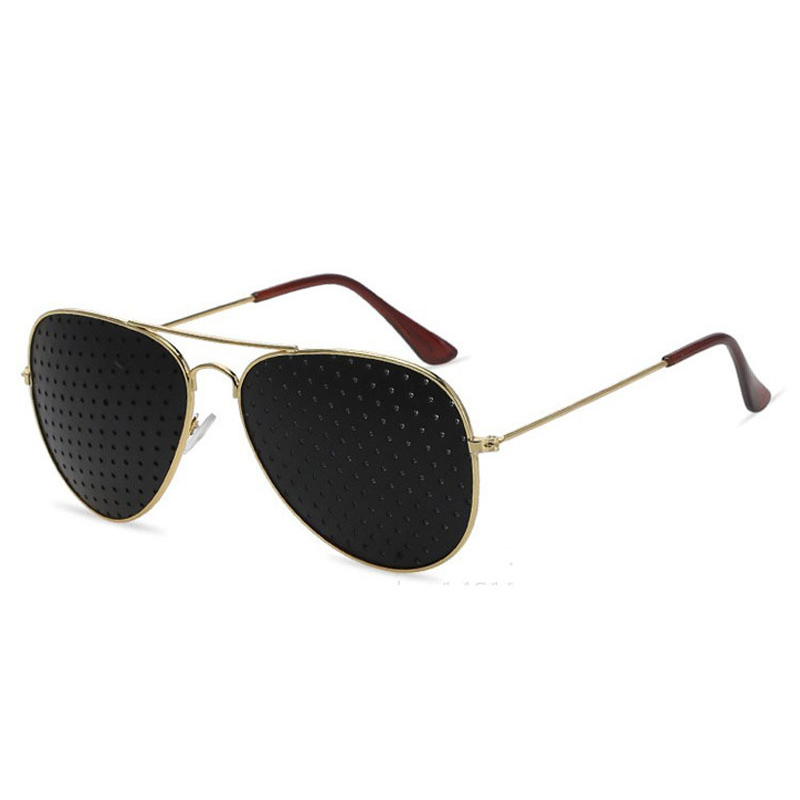 1pcs Anti-myopia Pin-hole Glasses Pin hole Sunglasses Eye Exercise Eyesight Improve Natural Healing vision Care Eyeglass