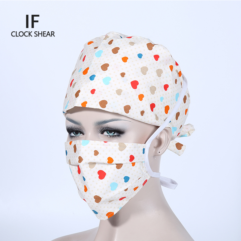 IF new cotton printing for women pet doctor caps beauty salon work cap Operating room hat doctor nurse dental