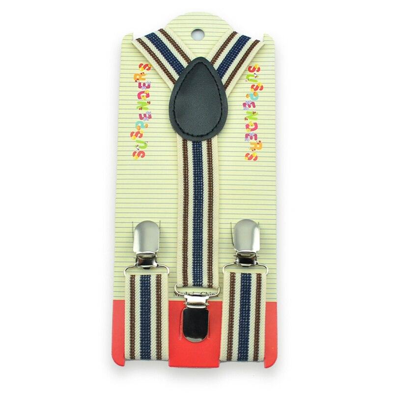 2pcs Wholesale 20 Multi Colors Striped Mixed Boys/Girls Elastic Braces Slim Printing Suspenders/gallus