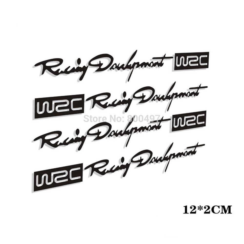 4 x voiture style mode créatif Auto décoratif décalcomanies monde course développement WRC voiture porte poignée vinyle voiture carrosserie décalcomanies