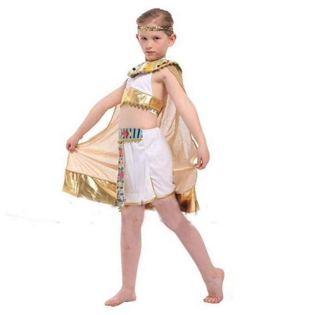 b860ee173d407 Online Shop Maquerade Carnival Children Role Playing Princess Dress Egypt  Little Queen Uniform Cleopatra Maid Cosplay Halloween Costumes