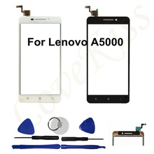 5.0 Pouces Haute qualité mobile téléphone écran tactile capteur de panneau Pour Lenovo A5000 Un 5000 tactile digitizer avant lentille en verre écran tactile