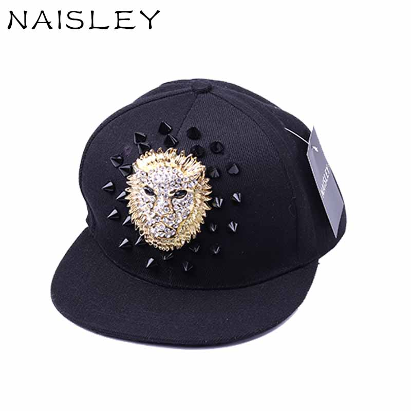 NAISLEY Brand 2017 NEW Fashion Winter Baseball Cap Lion Men Hat Rock Hip Hop Caps Hats Jazz Hat Snapback Cap Women Star Gift aorice winter genuine sheepskin leather hat brand new men s warm earmuffs hat man baseball caps leisure fashion brand hats hl030