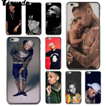 Yinuoda Chris Brown xxl tattoo Painted Beautiful Phone Case for iPhone 7 6 X 8 6s Plus 5 5S SE XR XS XSMAX11 11pro 11promax image