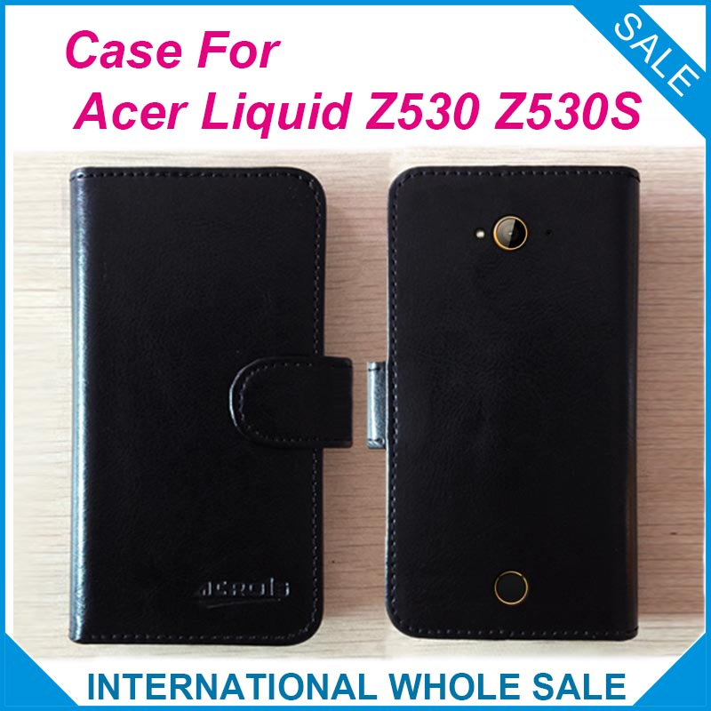 Hot! 2016 Factory Price High Quality Leather Exclusive Flip Cover <font><b>Phone</b></font> Wallet Bag for <font><b>Acer</b></font> <font><b>Liquid</b></font> <font><b>Z530</b></font> Z530S Tracking number