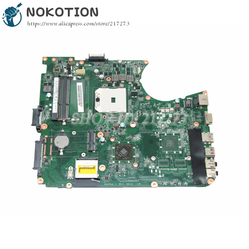 NOKOTION PC Motherboard For Toshiba Satellite L750D L755D MAIN BOARD Socket FS1 DDR3 DA0BLFMB6E0 A000081230