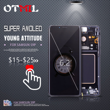 OTMIL 6.2 100% AMOLED LCD For SAMSUNG Galaxy S9 Plus LCD Touch Screen with Digitizer For SAMSUNG S9Plus Display G965 G965F #1 6 2 inch super amoled replacement for samsung s9 plus g965 g965f lcd screen display digitizer touch screen for s9 plus sm g965f
