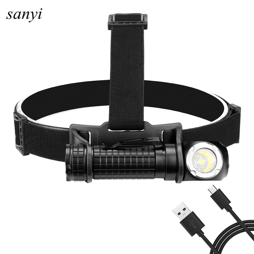 High Power 10W XM L2 Headlamp Magnet Work Lamp USB Rechargeable 18650 Battery Head Flashlight Lamp For Camping Fishing Hunting