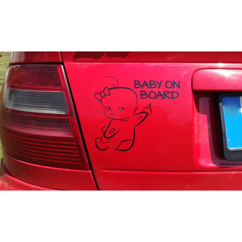 Image 4 - Fashion BABY ON BOARD Car Decor Reflective Warn Sign Vinyl PET Sticker Decal-in Car Stickers from Automobiles & Motorcycles