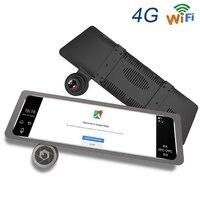 10 дюймов ips Сенсорный экран Видеорегистраторы для автомобилей Зеркало заднего вида Android 4G gps автомобильные аксессуары, Wi Fi, тире видеокамера