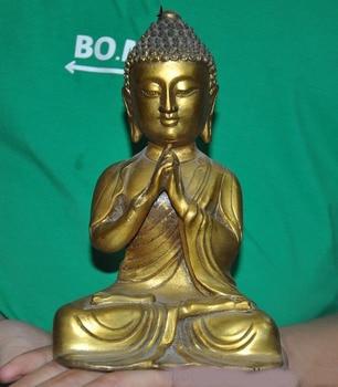 wedding decoration Tibet Buddhism bronze Gilt Sakyamuni Shakyamuni Amitabha Tathagata Buddha statue