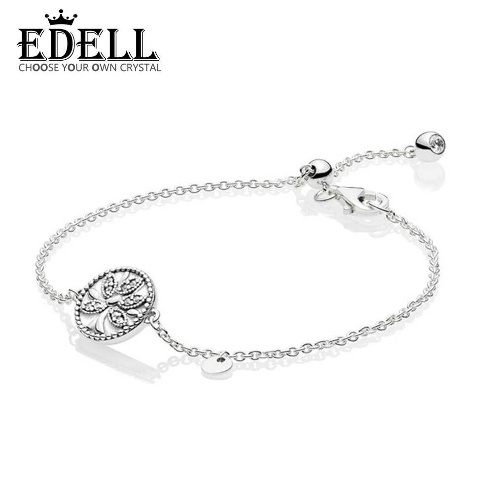 EDELL 100% 925 Sterling Silver New 2019 Spring 597776CZ Tree of Life DIY Bracelet Charming Women Free Shipping Factory WholesaleEDELL 100% 925 Sterling Silver New 2019 Spring 597776CZ Tree of Life DIY Bracelet Charming Women Free Shipping Factory Wholesale