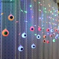 Feimefeiyou 3.5 м 96leds лампада LED глазного яблока Фея светодиодные Шторы огни строки Крытый партия Декор светодиодные полосы