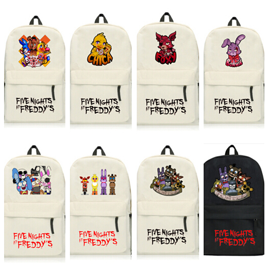 Us 13 05 5 Off Five Nights At Freddy S Backpack Anime Freddy Bonnie Chica Foxy School Bag New 45 X 29 X 13cm In Backpacks From Luggage Bags On