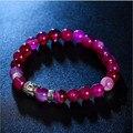 6 Colors Women's Men's Punk Buddha Natural Stone Bracelet pulsera armbanden beads Trendy Jewelry