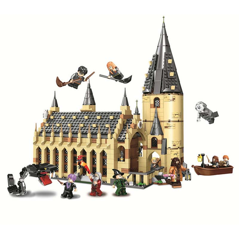 New Harry Potter Movie Hogwarts Great Hall Building Kit Blocks Toys For Children Compatible With Legoings 75954