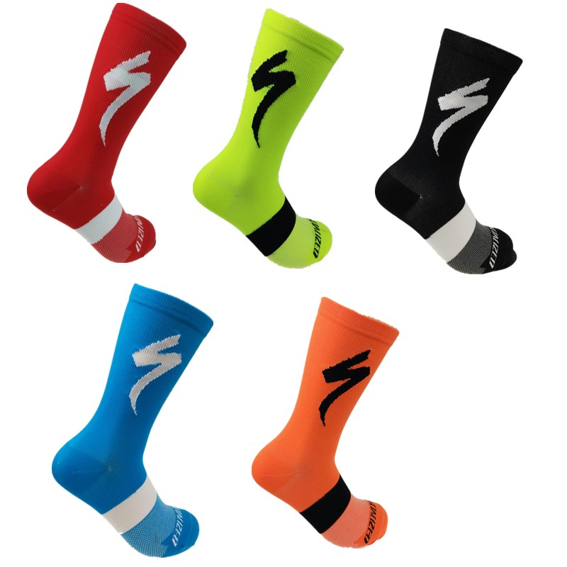 YF&TT Coolmax Mens Cycling Riding Bicycle Socks Breathbale Basketball Knee-High Sport Socks
