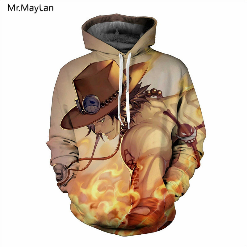 Japan Classic Anime One Piece 3D Print Luffy Hoodies Män Dam - Herrkläder - Foto 2