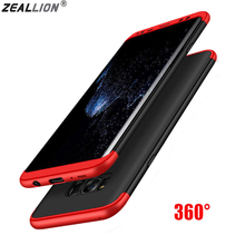 ZEALLION For Samsung S6 S7 Edge S8 S9 Plus Note 8 J3 J5 J7 2017 EU A8 2018 Case 360 Degree Full Protective Hybrid Hard PC Cover