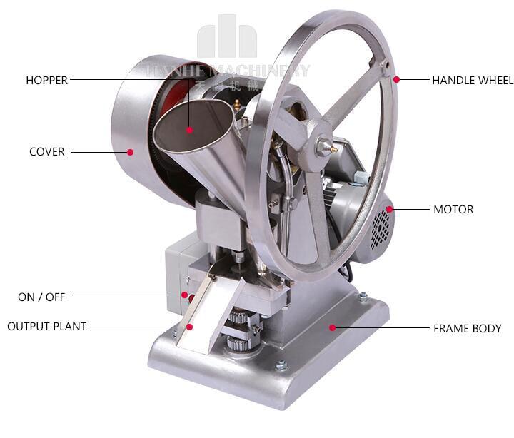 Seul coup de poing tablet press machine TDP-1.5 pilule machine de presse/pilule making/TABLETTE EN APPUYANT SUR