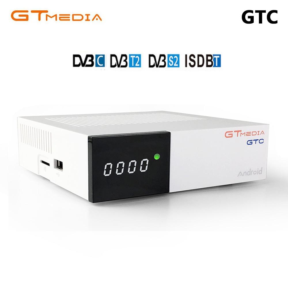 Gtmedia GT Satellite Receiver DVB-S2 Biss VU Cccam Receptor DVB-C Tuner DVB-T2 4K lines cccam Android tv box BT4.0 PK freesat v8 freesat v8 angel receptor satellite receiver android 4 4 smart tv box with 1 year cccam free cline for support iptv dvb s2 t2 c