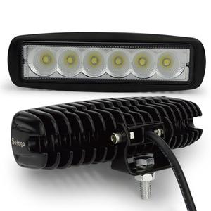 Image 4 - Safego 2 sztuk 18 W LED robocza listwa oświetleniowa offorad do ciężarówek SUV łódź 4X4 4WD ATV UTE samochodu lampa robocza LED jazdy lampy przeciwmgielne Spot wiązki powodzi
